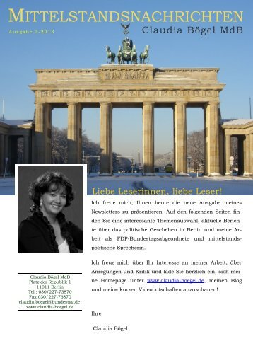 Link zum Newsletter - Claudia Bögel