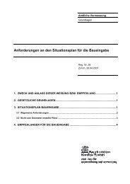 Anforderungen an den Situationsplan für die ... - Kanton Zürich