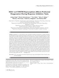 NOS1 ex1fVNTR polymorphism affects prefrontal oxygenation ...