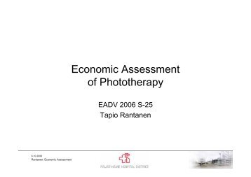 Economic Assessment of Phototherapy - EADV
