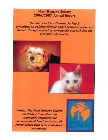 2006/2007 Annual Report - Maui Humane Society