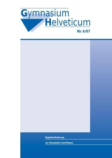 Gymnasium Helveticum Nr. 4/07 - vsg