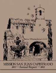 MISSION SAN JUAN CAPISTRANO Annual Report
