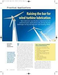 Raising the bar for wind turbine lubrication