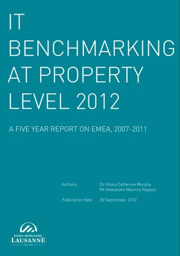Full report 2012: IT benchmark at property level - Ecole Hôtelière de ...