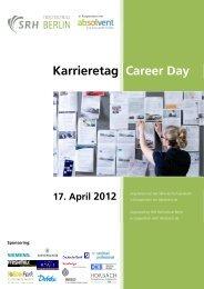 Programm Karrieretag 2012 - SRH Hochschule Berlin
