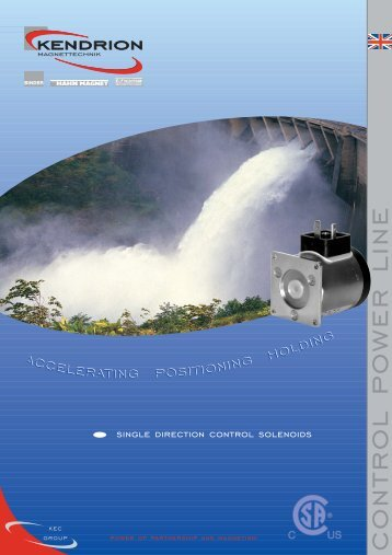 CONTROL POWER LINE catalogue - Kendrion Binder
