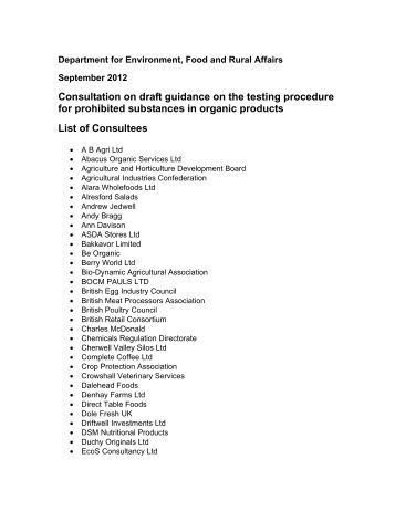 Appendix e lists of statutory consultees and interested for List of consuls