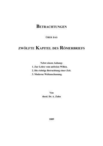 Betrachtungen über das zwölfte Kapitel des ... - Licht und Recht