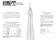 Puzz 3D Eiffel Tower Instructions - Hasbro