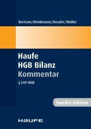 Sonder-Edition Haufe HGB Bilanz Kommentar - Haufe-Lexware