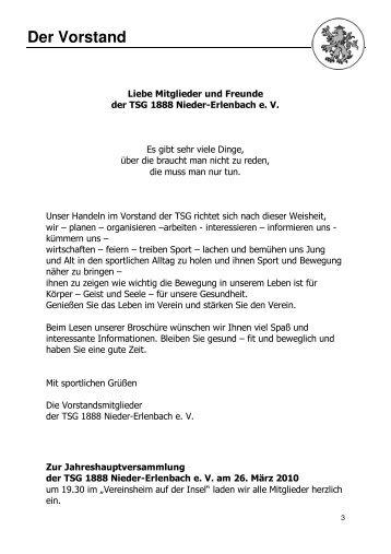 Ausgabe 2009 - TSG 1888 Nieder Erlenbach