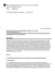 Genehmigungsbescheid vom 27. Mai 2011 zum Verfahren ...