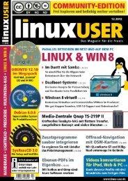 Ausgabe 12/2012 jetzt herunterladen - Linux User