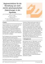 Hygienerichtlinie für die Herstellung von nicht sterilen ... - Gd-online.de