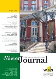 MieterJournal I/2009 - WBG Wohnungsbaugesellschaft Görlitz mbH