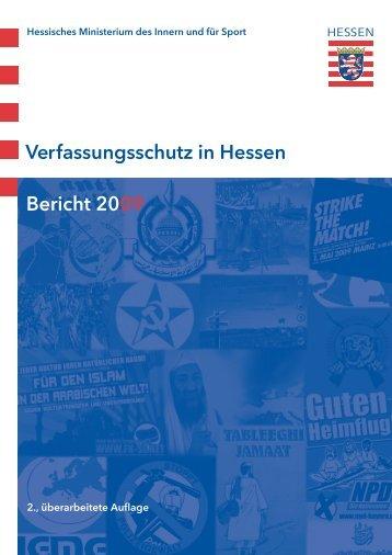 Verfassungsschutz in Hessen Bericht 2009