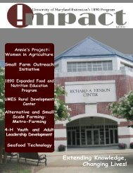 UME Impact Magazine - University of Maryland Eastern Shore
