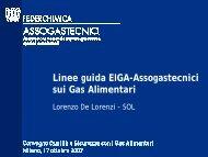 Linee guida EIGA-Assogastecnici sui Gas Alimentari