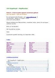 333 Gugelhupf = Napfkuchen - Glutenfrei kochen backen