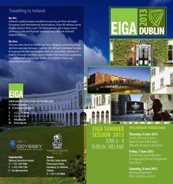 EIGA SUMMER SESSION 2013