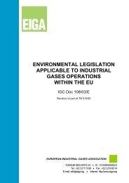 environmental legislation applicable to industrial gases ... - eiga