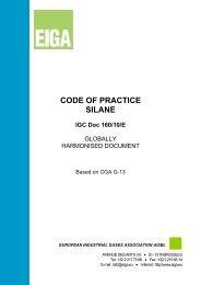 CODE OF PRACTICE SILANE - eiga