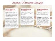 daheim-Plätzchen-Rezepte - daheim in Deutschland