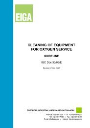 CLEANING OF EQUIPMENT FOR OXYGEN SERVICE - eiga