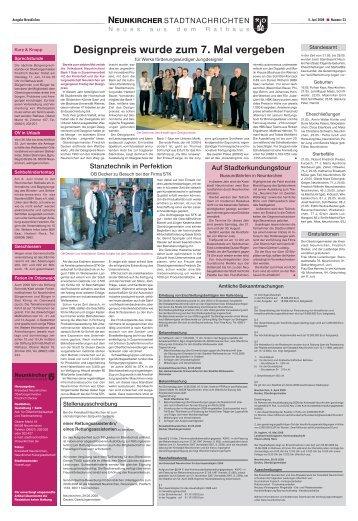 Neunkircher Stadtnachrichten 2008 KW-23 - Neunkirchen