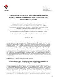 Antimicrobial and antiviral effects of essential oils from ... - Tübitak