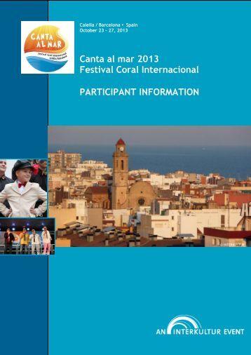 Canta al mar 2013 Festival Coral Internacional ... - interkultur.com