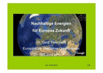 Nachhaltige Energien für Europas Zukunft