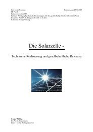 Die Solarzelle - - Photovoltaik Kress