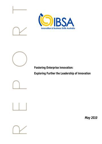 Fostering Enterprise Innovation: Exploring Further the Leadership of