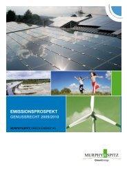 Murphy & Spitz GE Wertpapierprospekt 2009-09-17 - Anleihen ...
