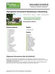 Alpengasthof Sonnenbichl Nesselwang in ... - Outdoor-Touristik
