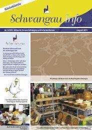 Gästeblättle August 2011 - PDF-Datei (5 MB) - Schwangau