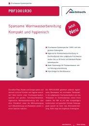 PBF1001R30 Sparsame Warmwasserbereitung Kompakt und ...