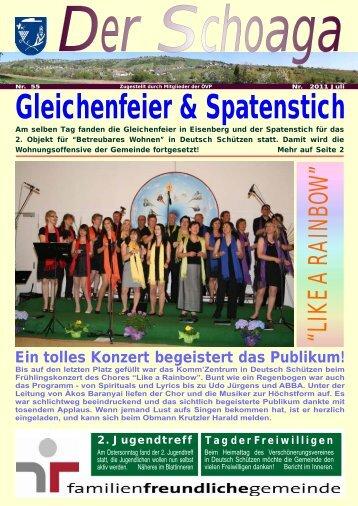 Gleichenfeier & Spatenstich - Gemeinde Deutsch Schützen Eisenberg
