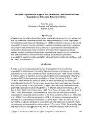 Perceived Organizational Support, Job Satisfaction, Task - Ibam.com