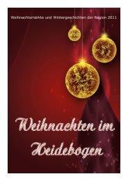 Weihnachtsmärkte und Wintergeschichten der Region 2011
