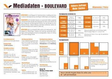 Mediadaten - BOULEVARD - Börner PR Werbung & Druck GmbH