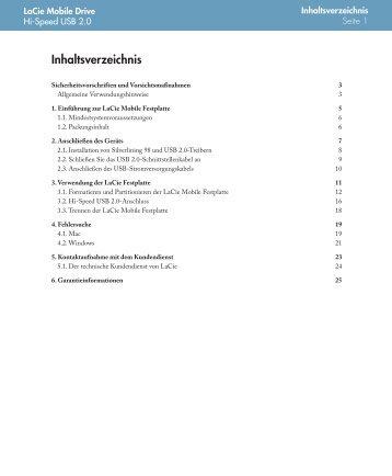 Downloads Handbuch - LaCie