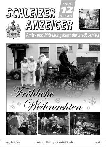 Ausgabe 12/2008 – Amts- und Mitteilungsblatt der Stadt Schleiz ...