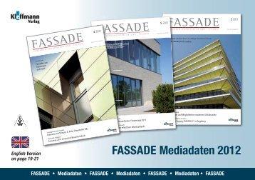 FASSADE Mediadaten 2012 - FH Kleffmann Verlag GmbH ...