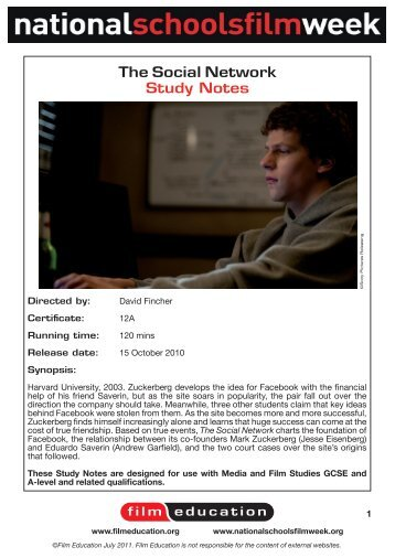 movie analysis the social network I've seen the social network twice and plan on seeing it again at least two more times i am taken by this movie it took me about a week to understa.