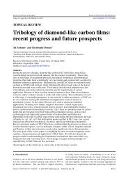 Tribology of diamond-like carbon films: recent progress and future ...