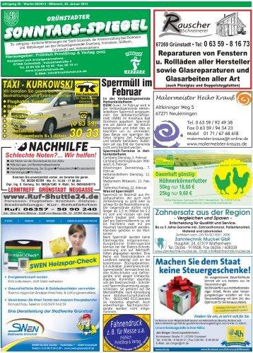Ausgabe Woche 05-2013 - Fröhlich PrintShop und Verlag OHG - T ...