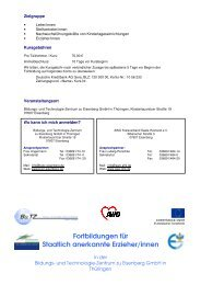 Fortbildungen für Staatlich anerkannte Erzieher/innen